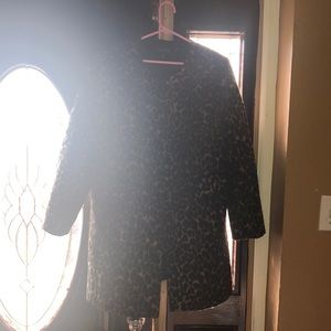 Cheetah print coat by Talbots